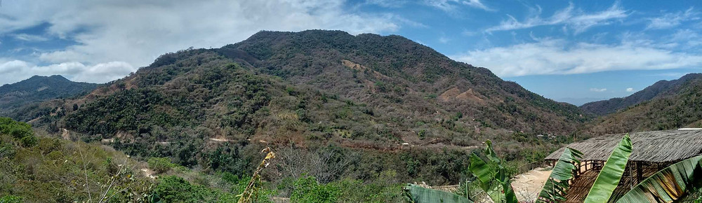 Sierra Madre mountains from Canopy River base (Puerto Vallarta)