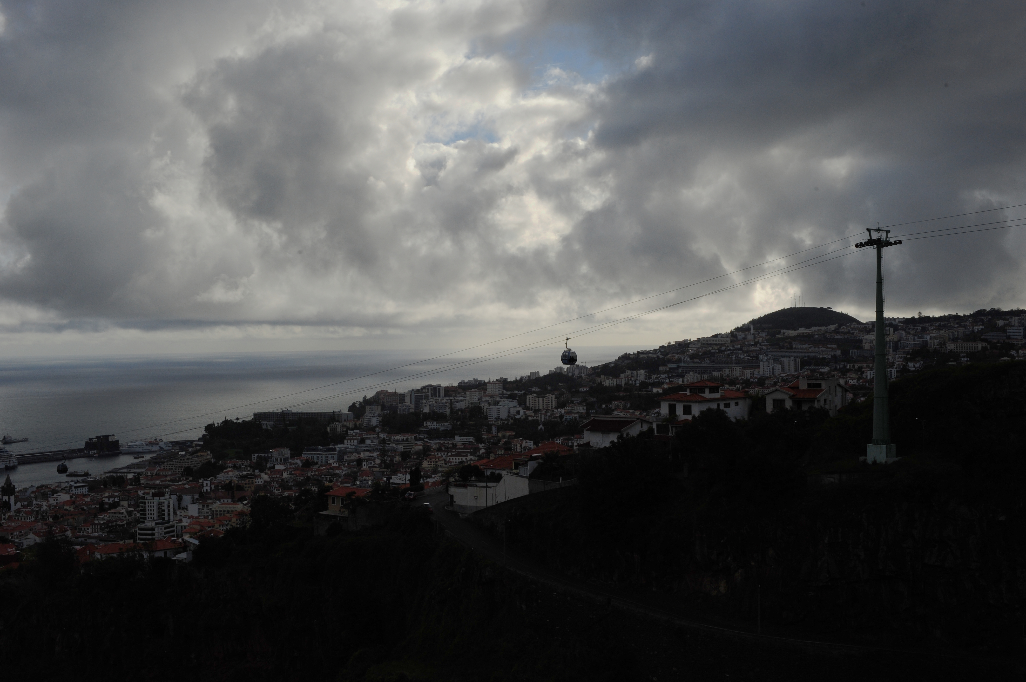 View over Funchal from the levada