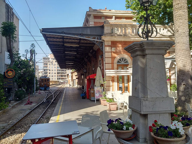 Train to Soller station in Palma