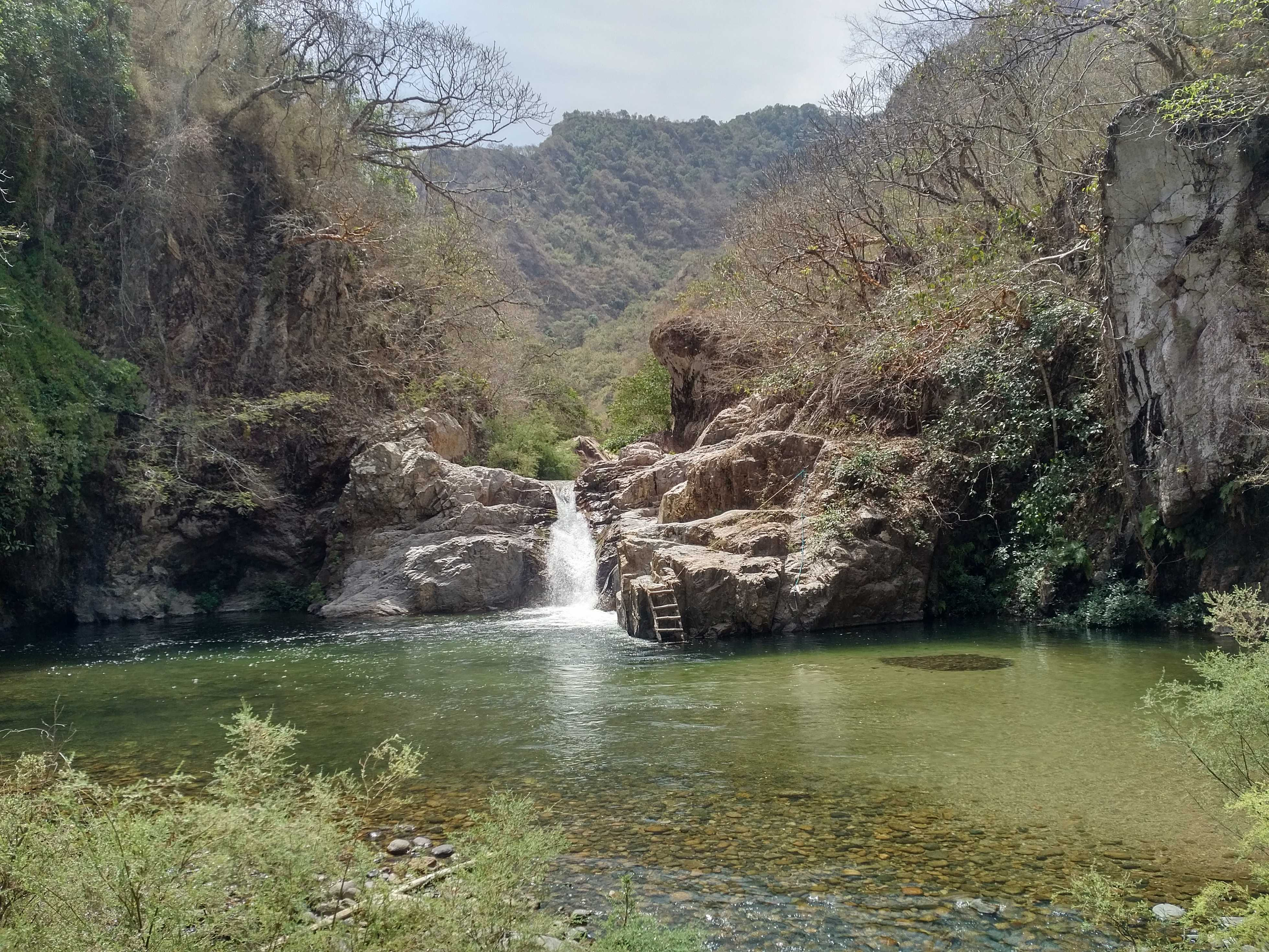 Waterfall in the Sierra Madre mountains