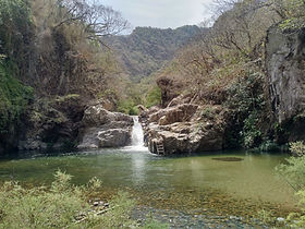 Waterfall in the Sierra Madre mountains, Mexico