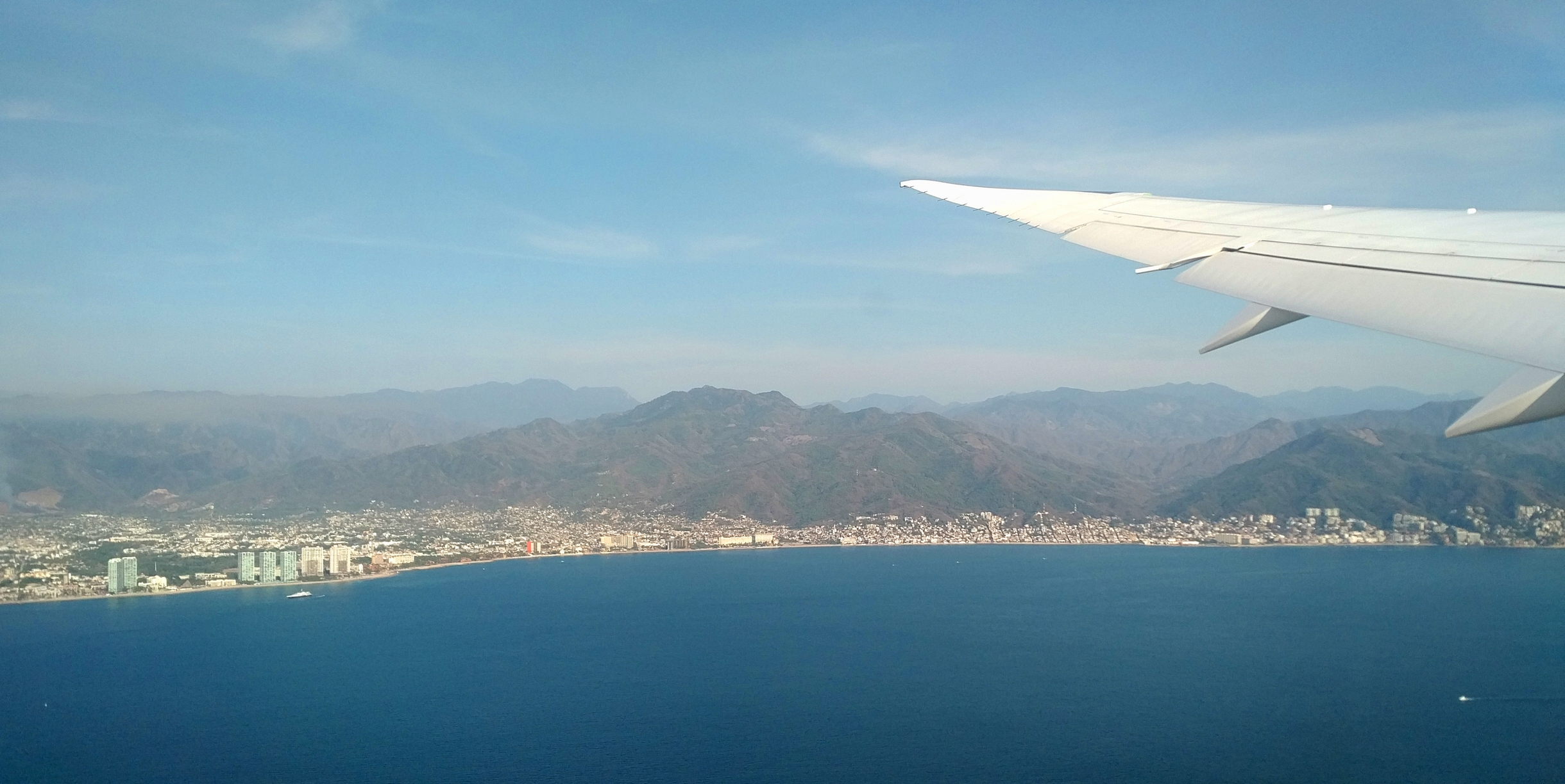 View of Puerto Vallarta from the plane