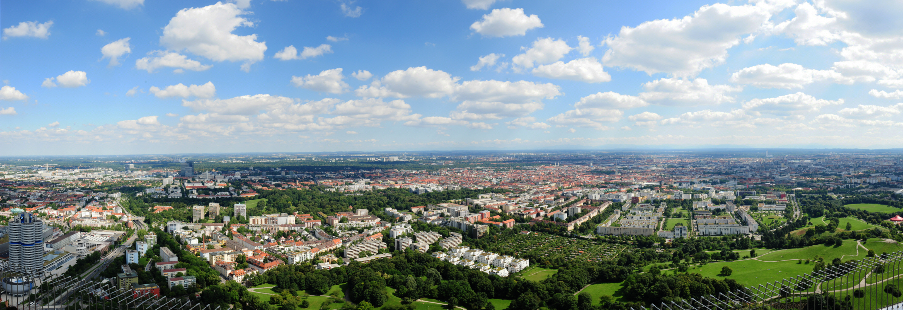 View from the Olympic tower, Munich