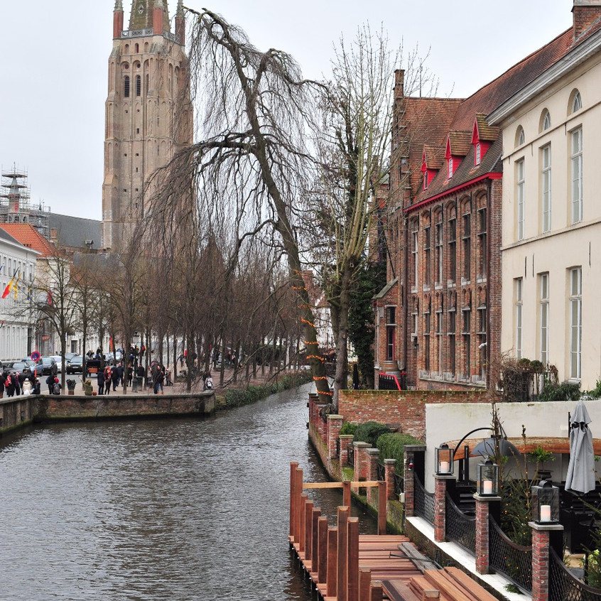 Bruges Old Town on Christmas Day