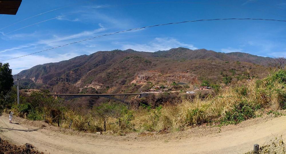 View over El Progreso bridge, Jalisco, Mexico