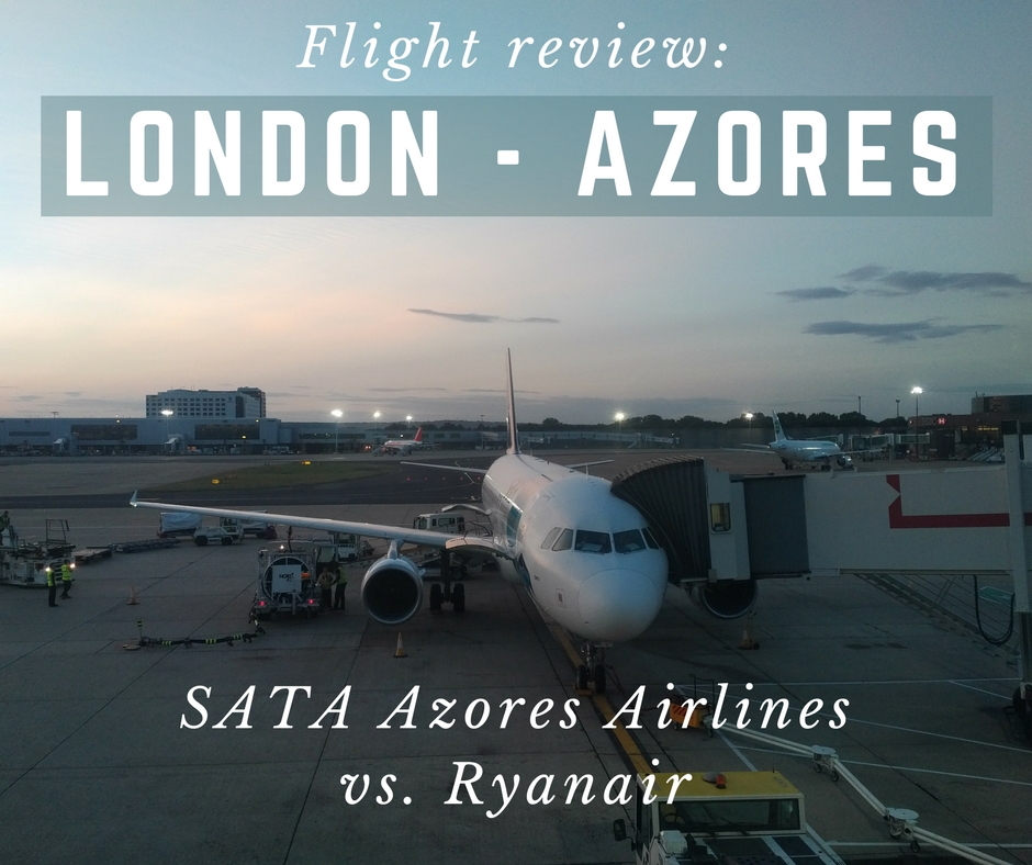Flight to Azores from London - Azores Airlines vs. Ryanair