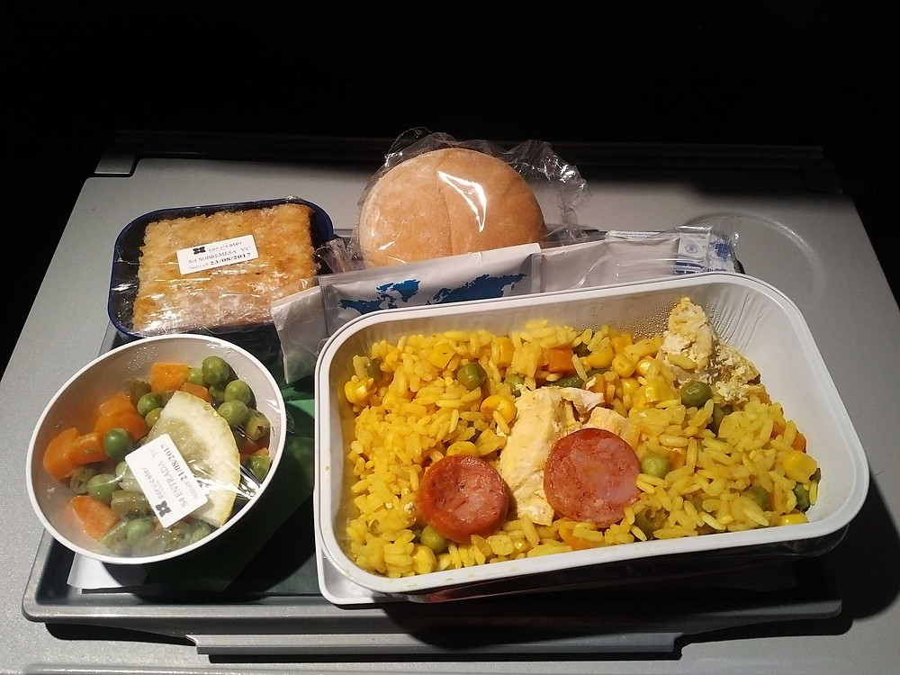 SATA Azores Airlines in-flight meal