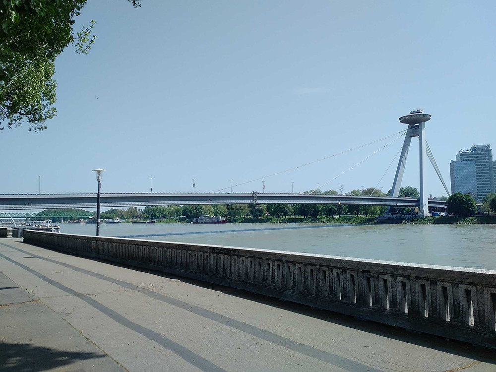 Cycling by the Danube, Bratislava