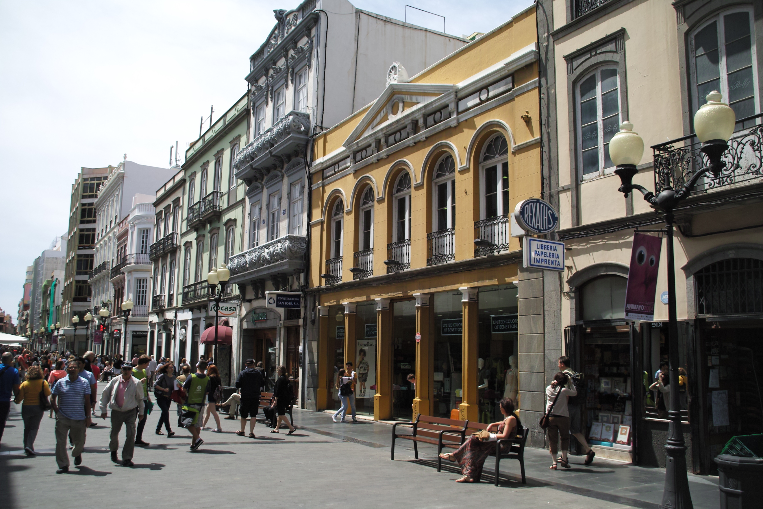 Las Palmas main shopping street