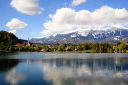 Lake Bled and the Alps