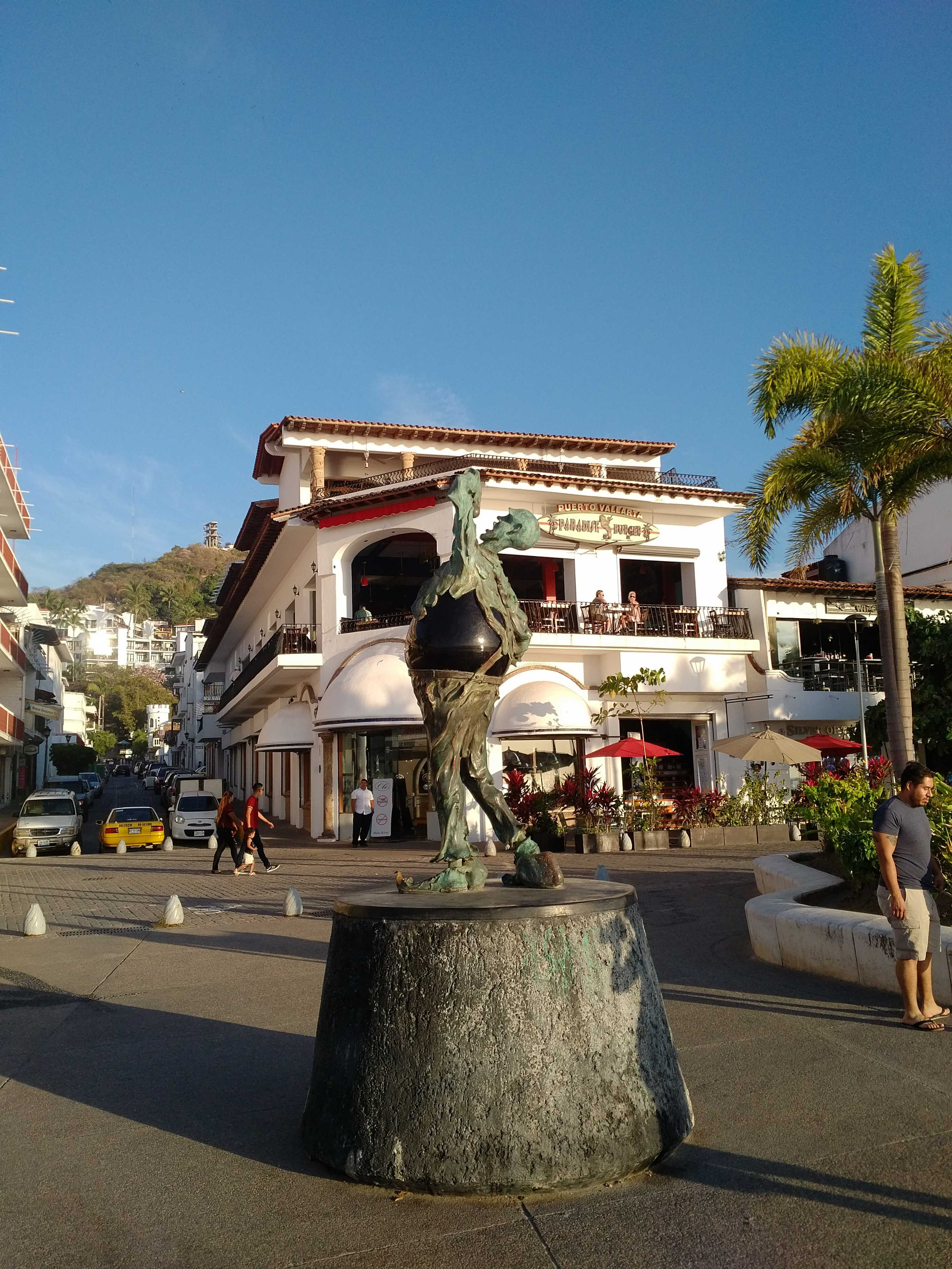 One of the many statues on the Malecon, Puerto Vallarta