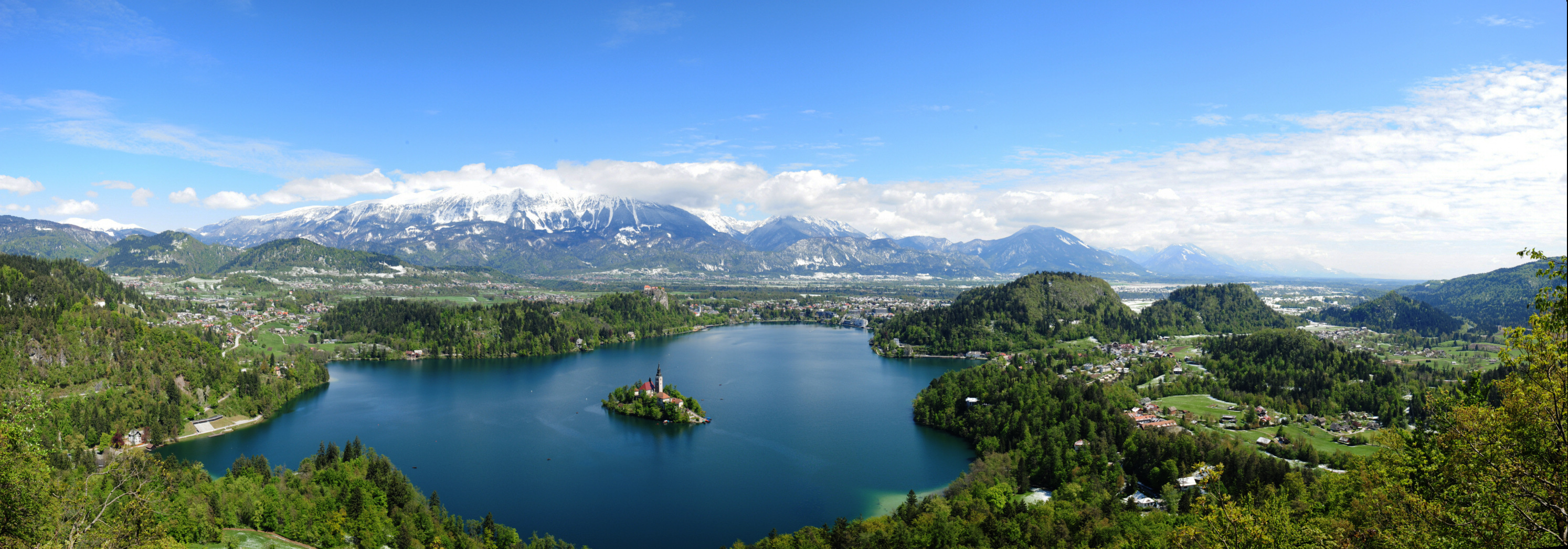 View over Bled and the Alps from Mala Osojnica