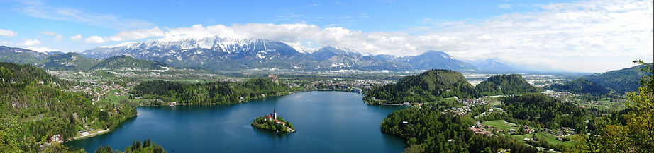 Guide to Bled sights - view of Bled lake