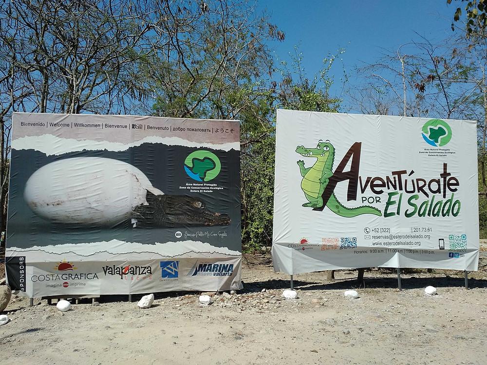 Entrance to Estero el Salado