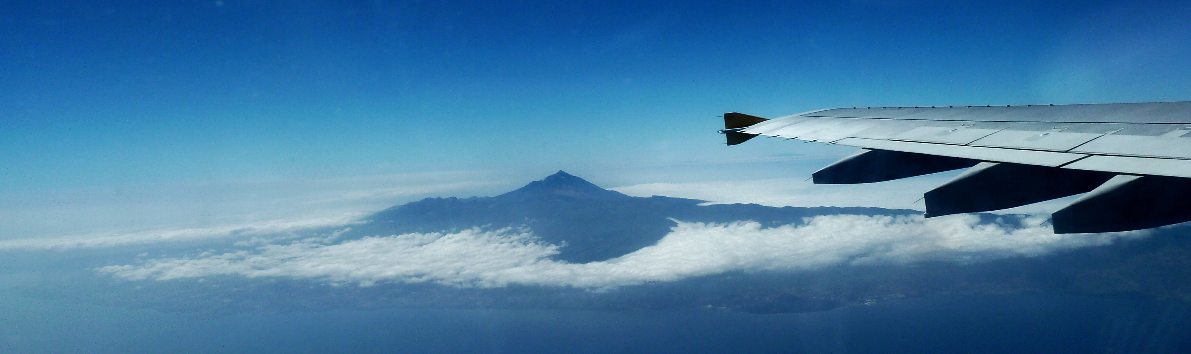 Teide volcano Tenerife aerial