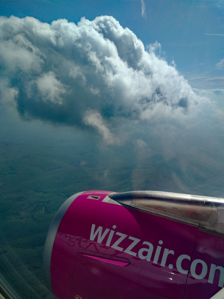 Wizz Air review - view from the window seat