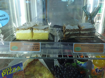 Prekmurska gibanica and Bled cream cake