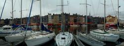 Honfleur harbour panorama