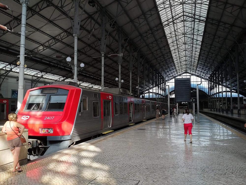 Rossio train station platform - train to Sintra