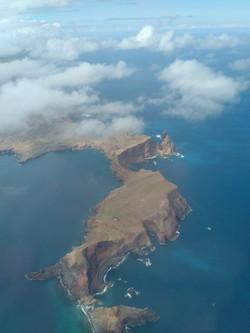 Baia d'Abra from the air