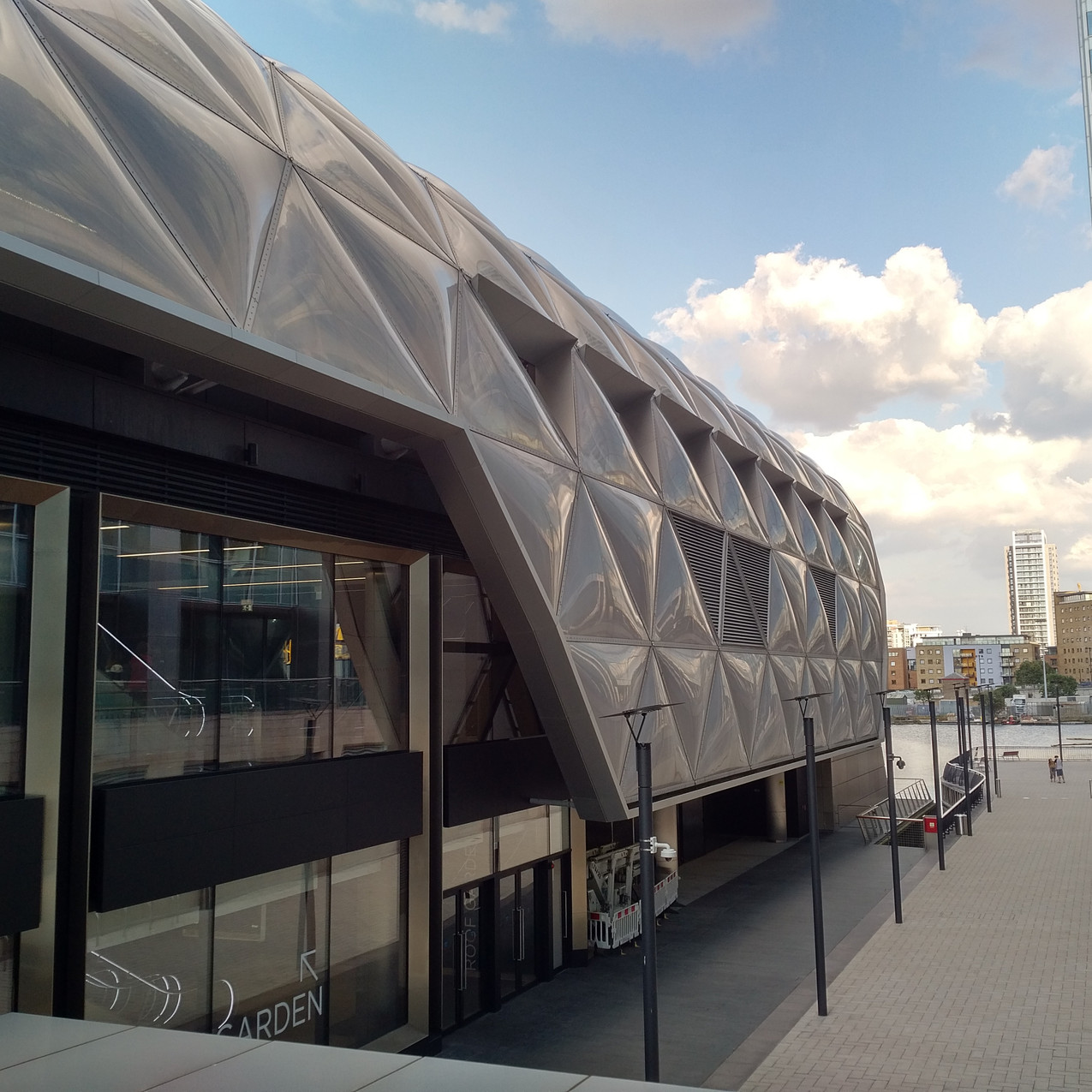 Crossrail station in Canary Wharf