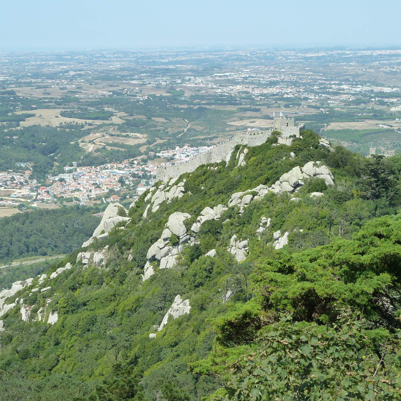 View over Moorish Castle from Pena Palac