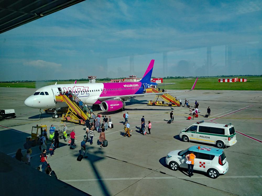Wizz Air review - boarding in Bratislava