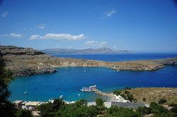 View from the acropolis site, Lindos