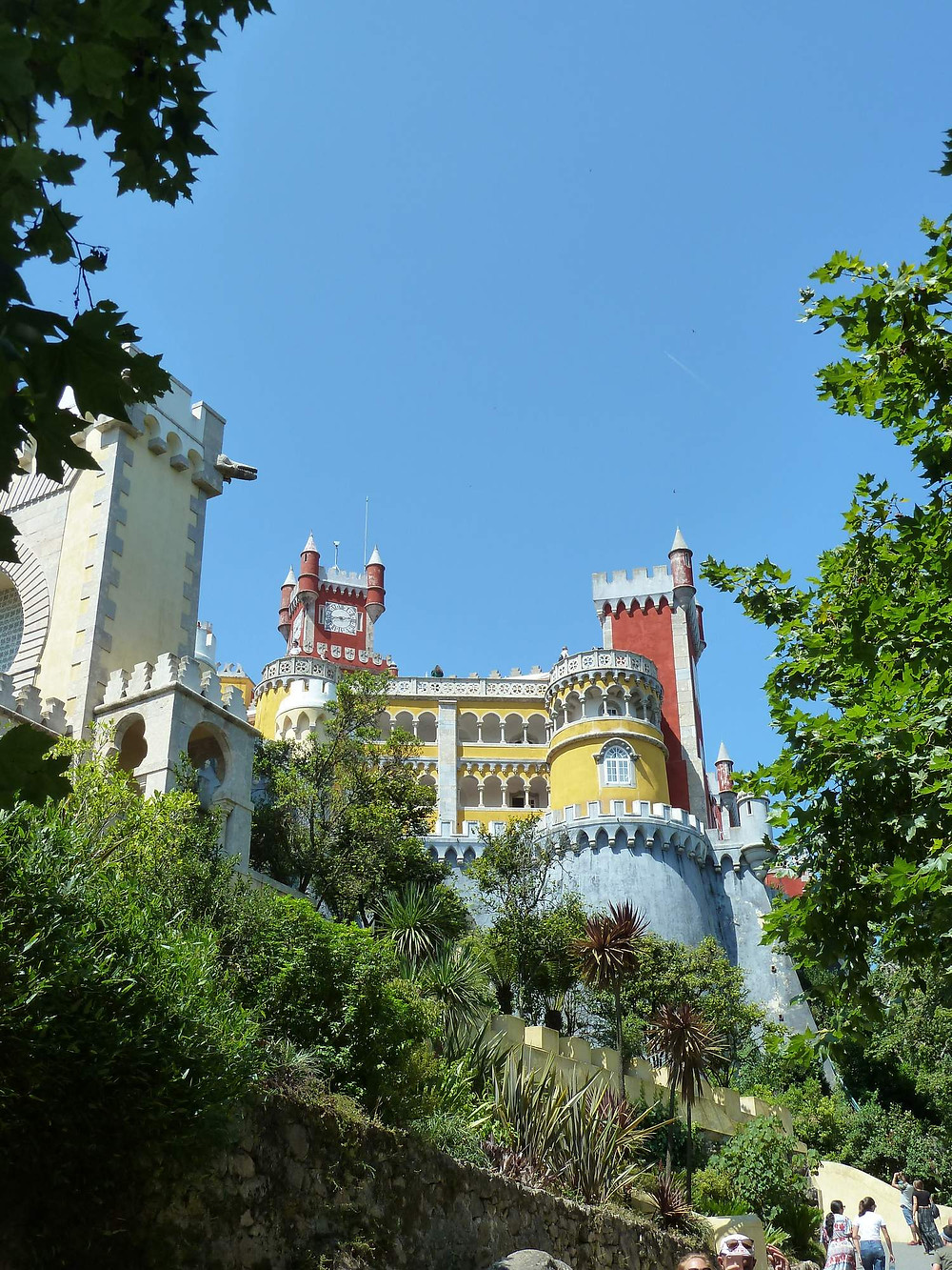 Going up to Pena Palace