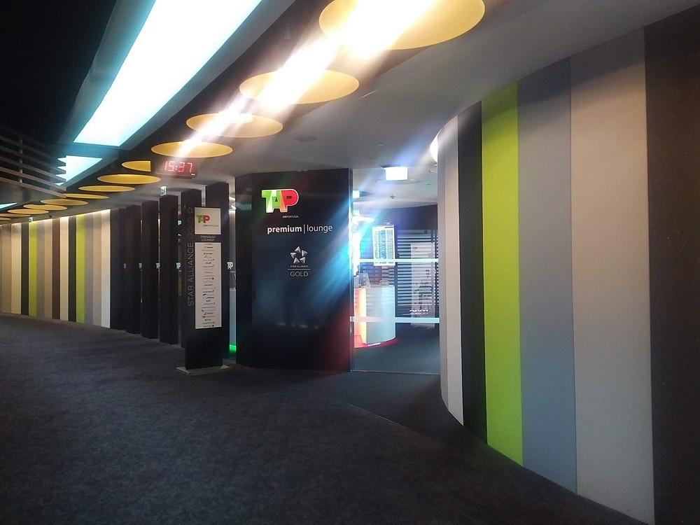 TAP Portugal Lisbon lounge entrance