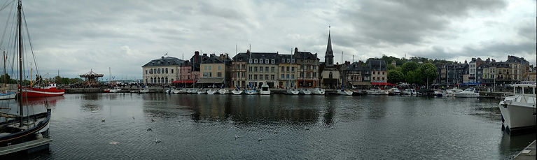 Top places to see in Normandy - Honfleur harbour
