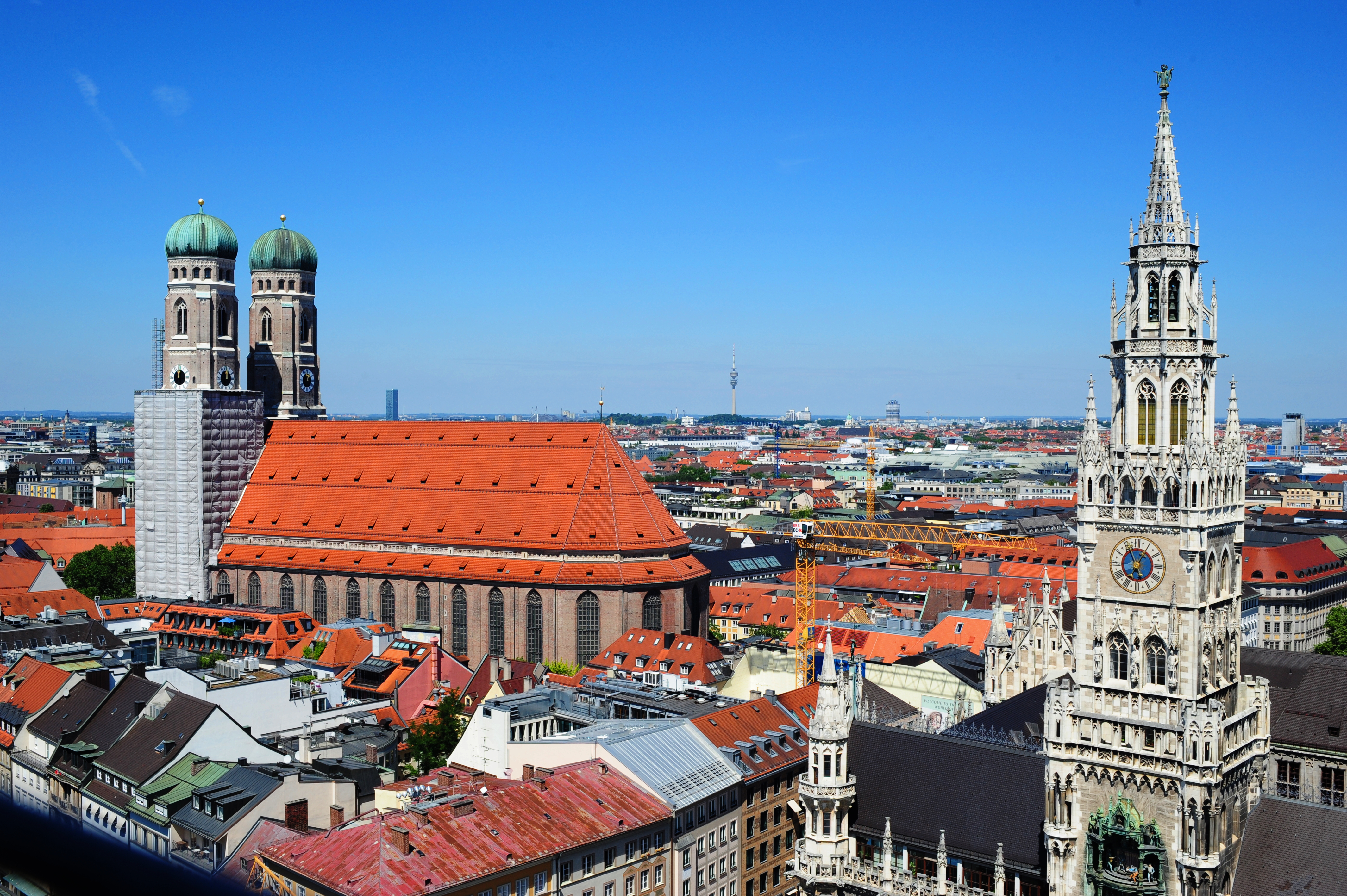 Munich view from St Peters church tower