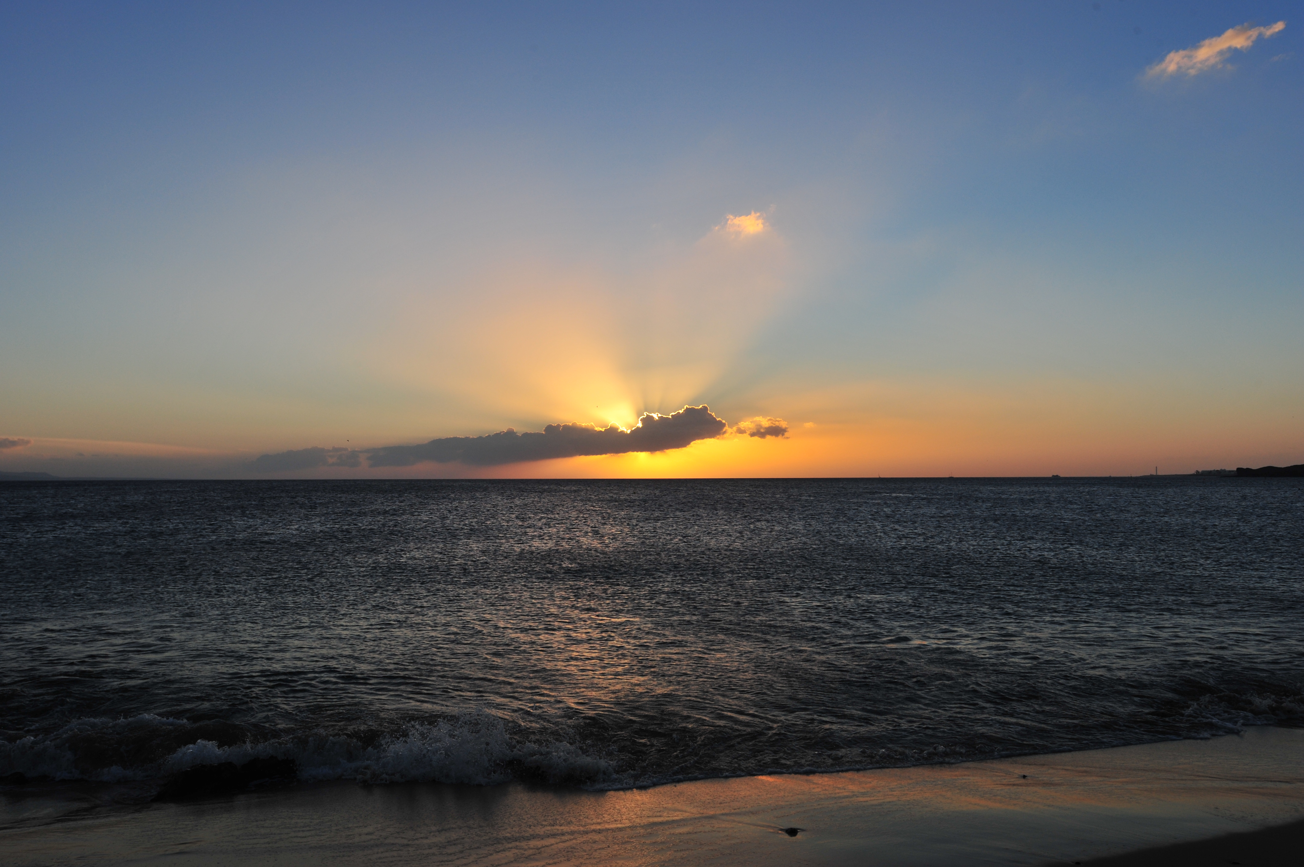 Sunset from the beach at Playa Blanca