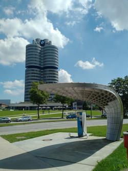 Looking towards BMW museum