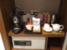 Wyboston Lakes Hotel tea and coffee making facilities in room