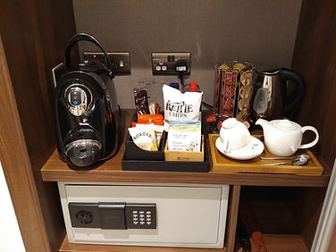 Wyboston Lakes Hotel tea and coffee making facilities in room