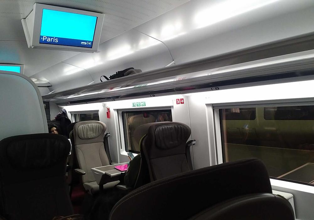 Eurostar premium economy carriage on an e320 train