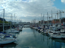 Deauville yacht harbour (and casino in the distance)