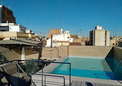 Vincci Mercat hotel review - roof terrace and pool