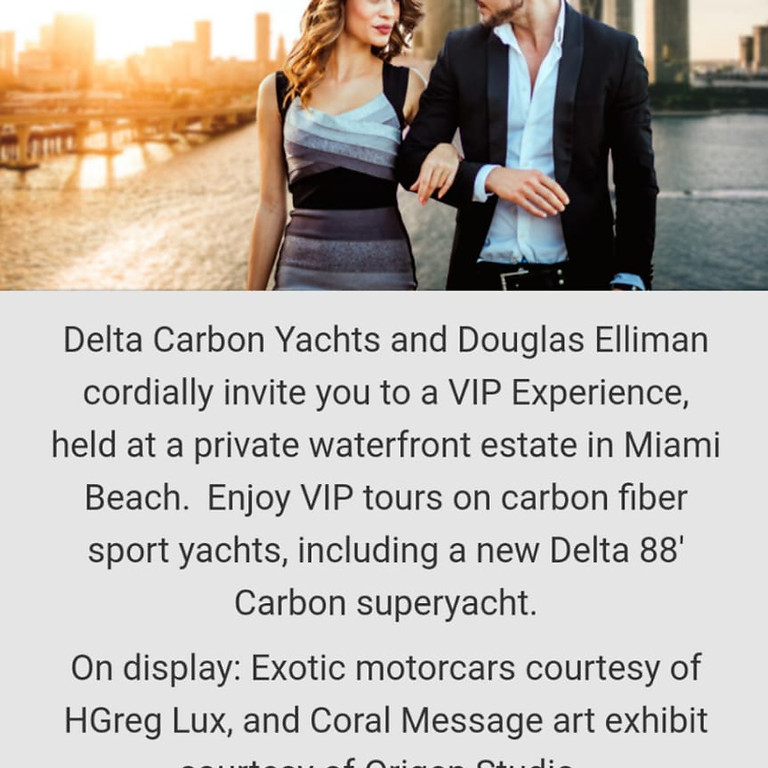 Art Basel Miami, 2019 - VIP Experience With Delta Carbon Yachts
