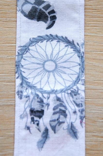 Marque-page fait main - 100% coton - Lavable