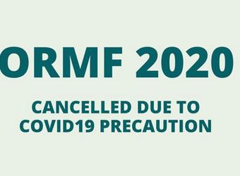 COVID-19 Update: ORMF Canceled