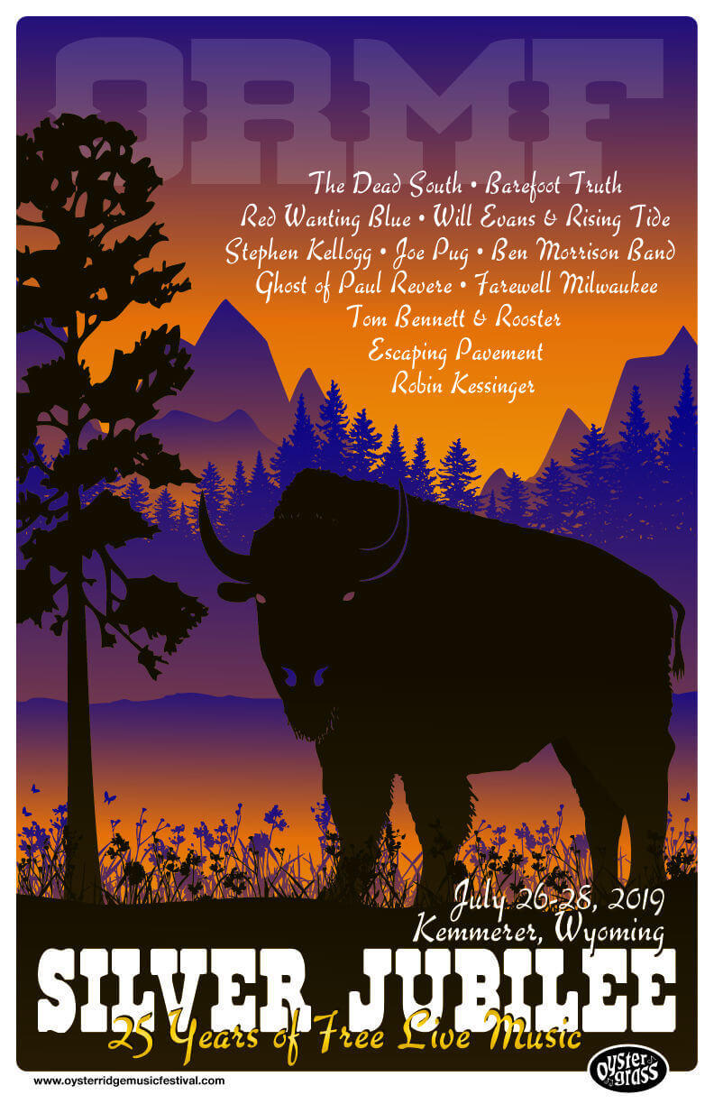 25th Anniversary - Silver Jubilee Poster - Oyster Ridge Music Festival