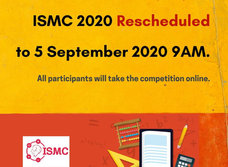 ISMC2020 Rescheduled, Sep 5th 2020 - Online