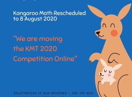 KMT2020 Rescheduled, August 8th, 2020 - Online