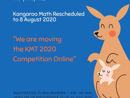 KMT2020 Rescheduled, August 8th, 2020 - Online