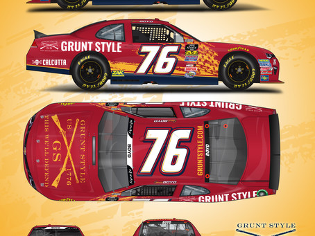 Spencer Boyd Sports Special Colors to Honor Military at Charlotte Motor Speedway