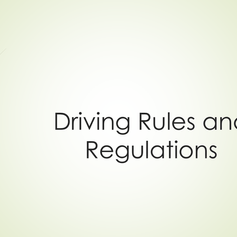 Driving Rules for high performance