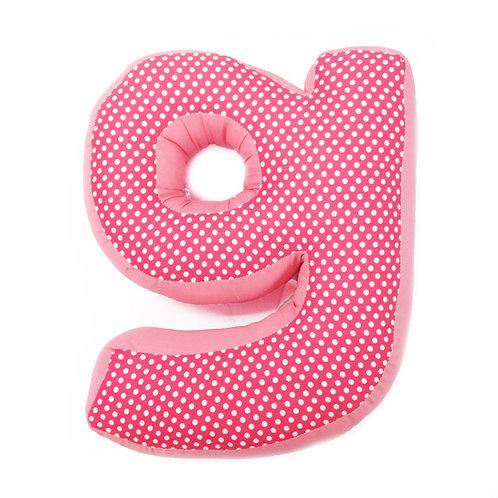 Simplicity Hot Pink - Letter Pillow G