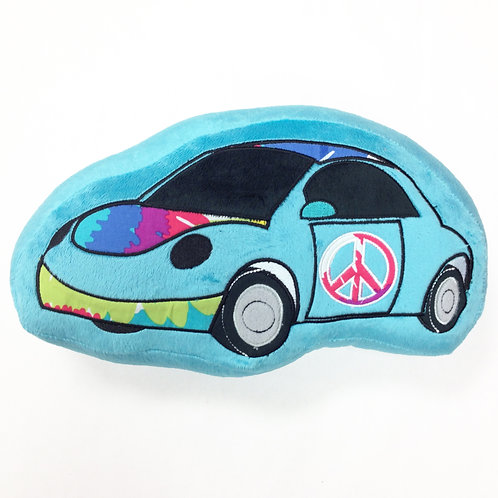 Terrific Tie Dye - Decorative Pillow - Car